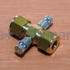 Форсункодержатель для 2-х форсунок на 180 или 120 градусов латунь