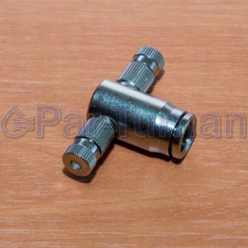 Форсункодержатель концевой для 2-х форсунок push lock